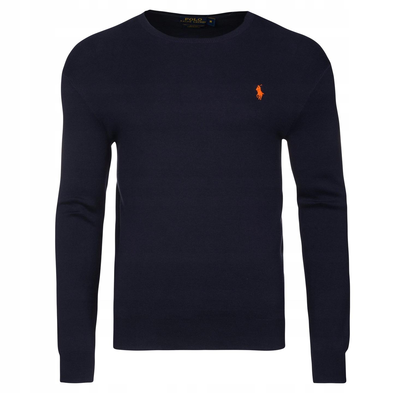 Sweterek- Ralph Lauren-granatowy- L - sale%