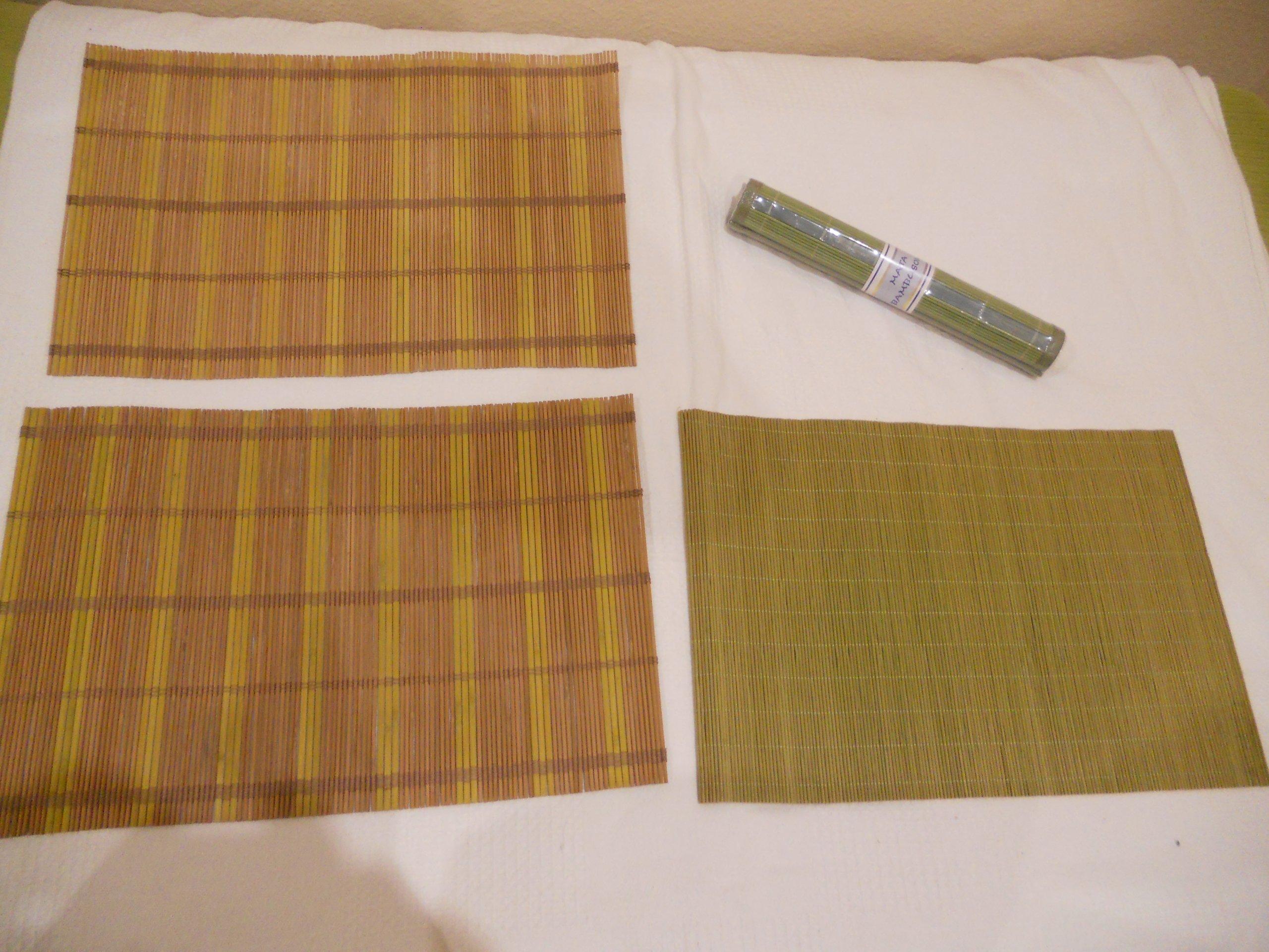 Maty bambusowe (podkładki -30x45 cm) 4 szt