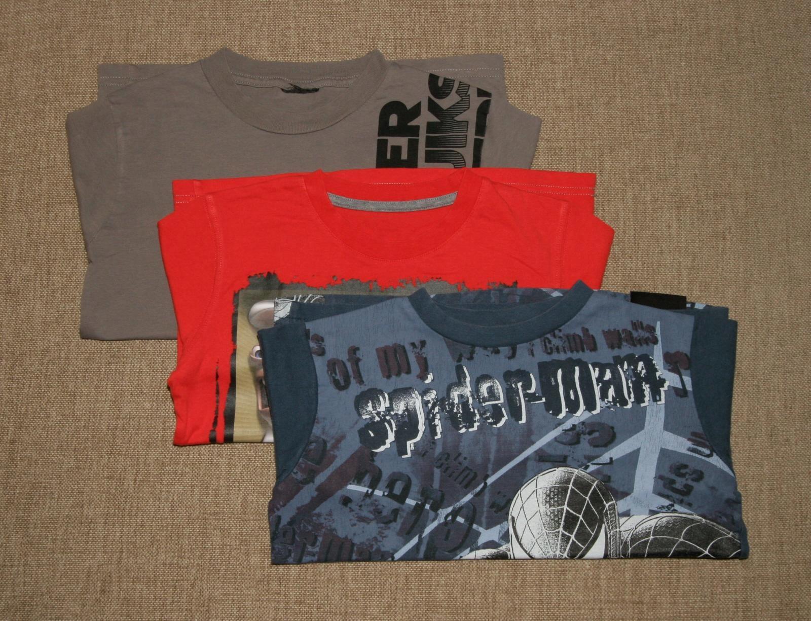 3 x koszulka t-shirt z długim rękawem 128cm