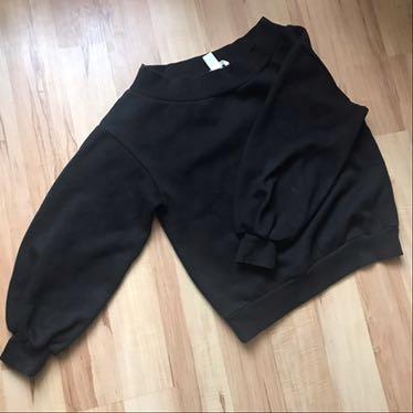 Bluza H&M bufiaste rękawy, szeroki dekolt r. S