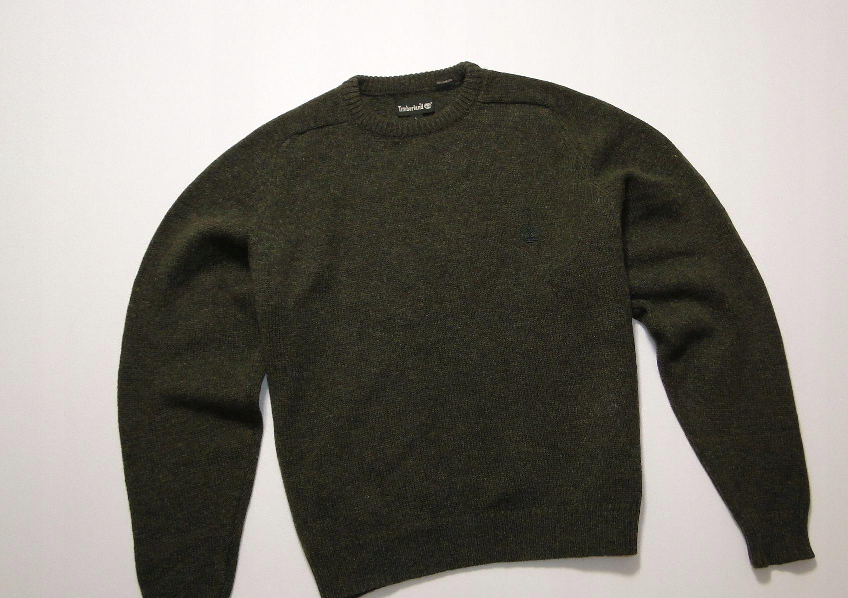 Sweter TIMBERLAND Greenland Green Wool Wełniany L