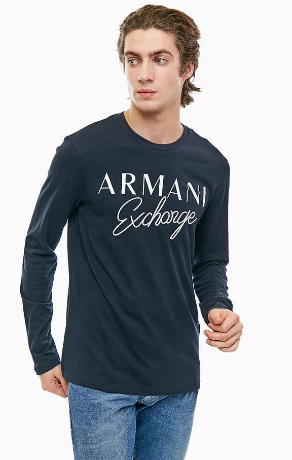 ARMANI EXCHANGE ORYGINALNA KOSZULKA LONGSLEEVE XL