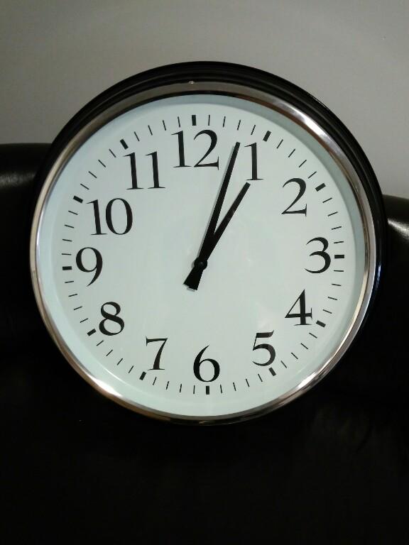 Zegar ścienny Ikea Bravur Stalowy Duży 59cm