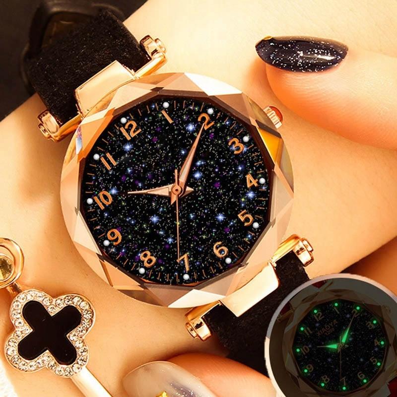 Dropshipping zegarki damskie moda Starry Sky