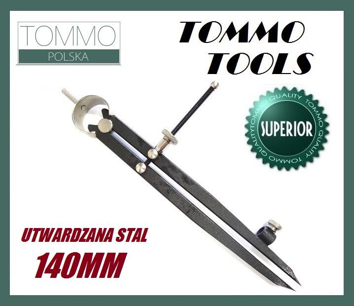 Cyrkiel Traserski Prosty 14cm Utwardzana Stal 2w1