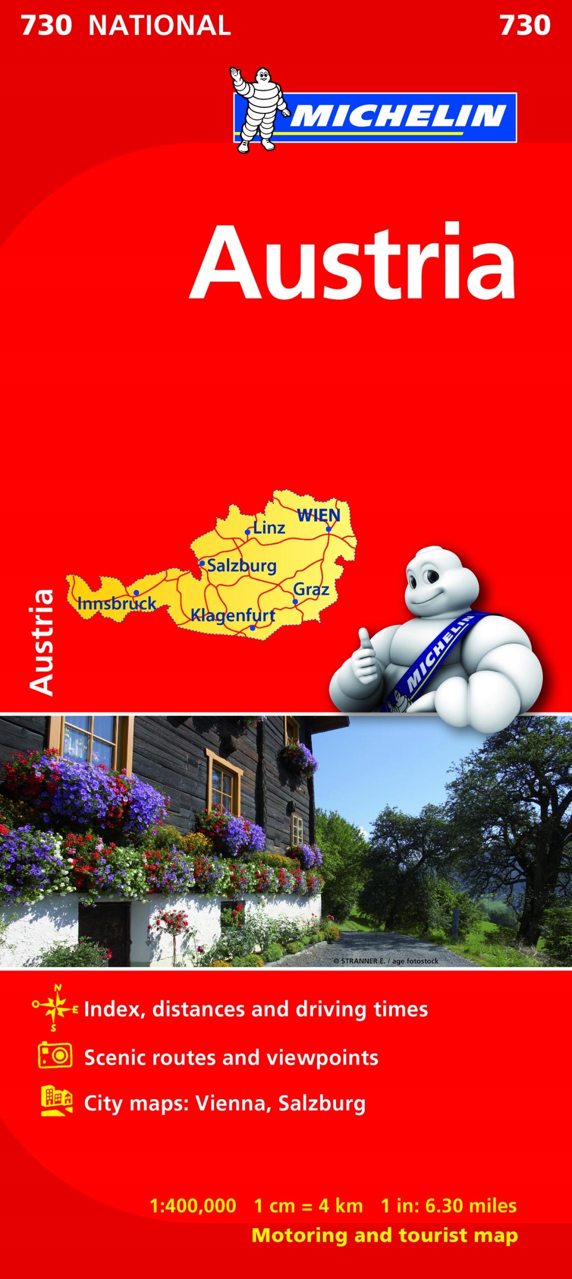 AUSTRIA MAPA SAMOCHODOWA Michelin 2016 ZESTAW