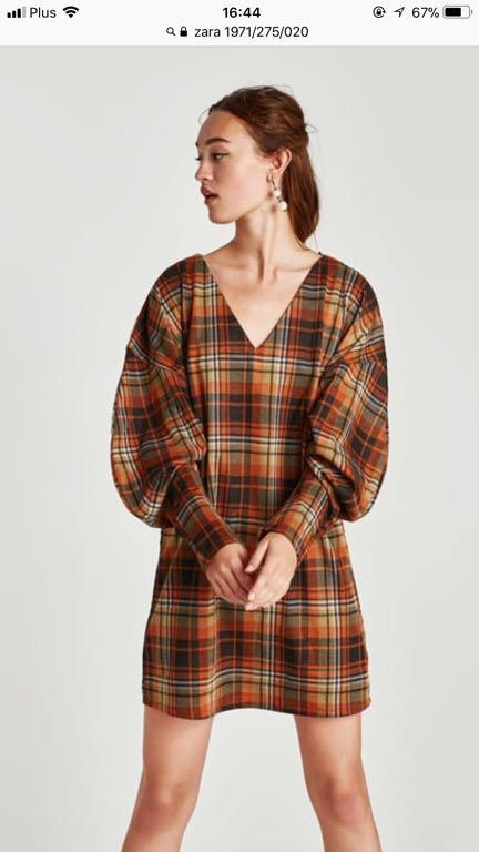 eaa16488ca Zara sukienka w kratkę krata tunika retro M - 7084374525 - oficjalne ...