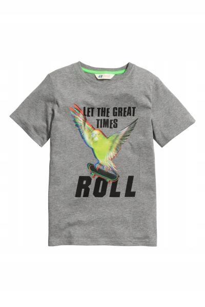 H&M T-shirt z nadrukiem rozm.158/164cm,12-14L