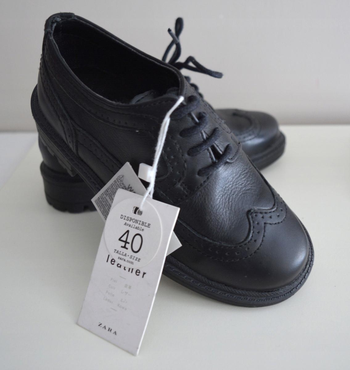 ZARA Skórzane buciki dla chłopca NOWE