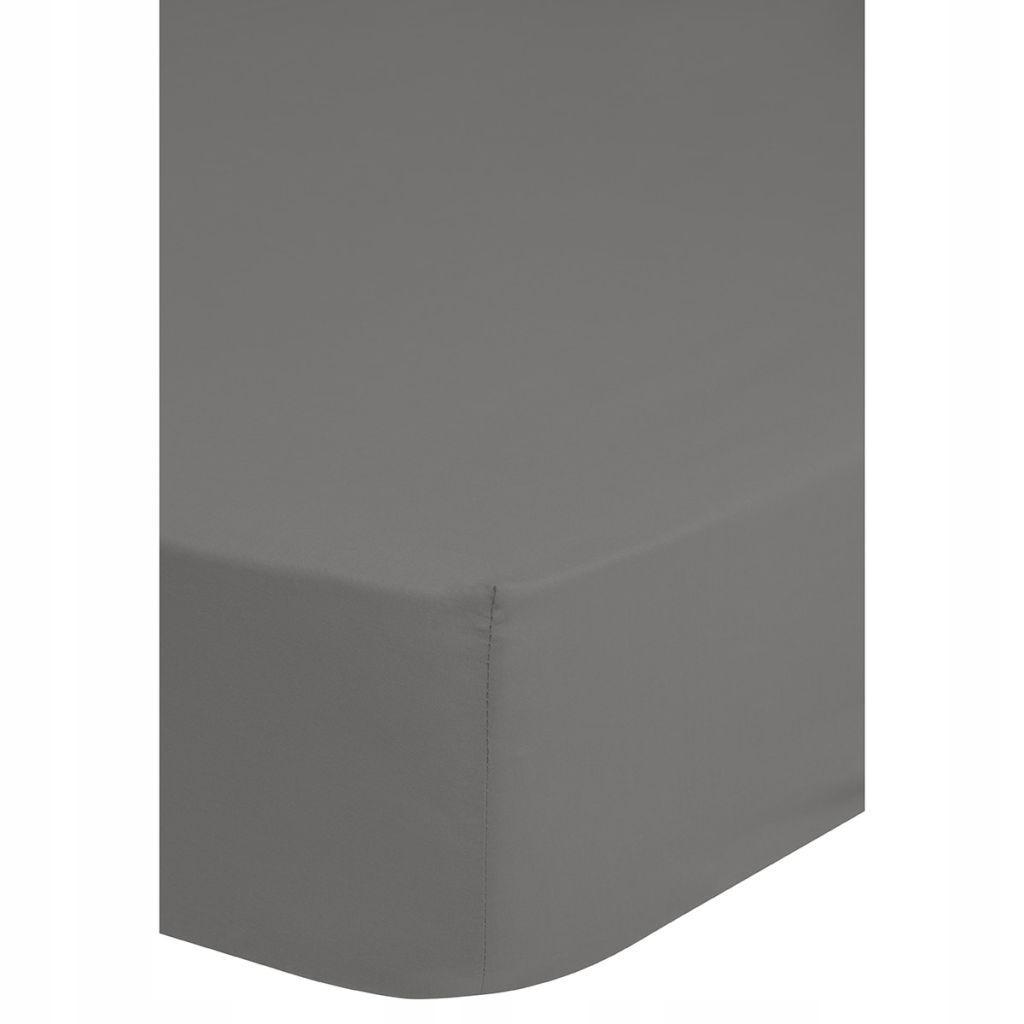 Emotion Prześcieradło z gumką, 90x220 cm, szare, 0
