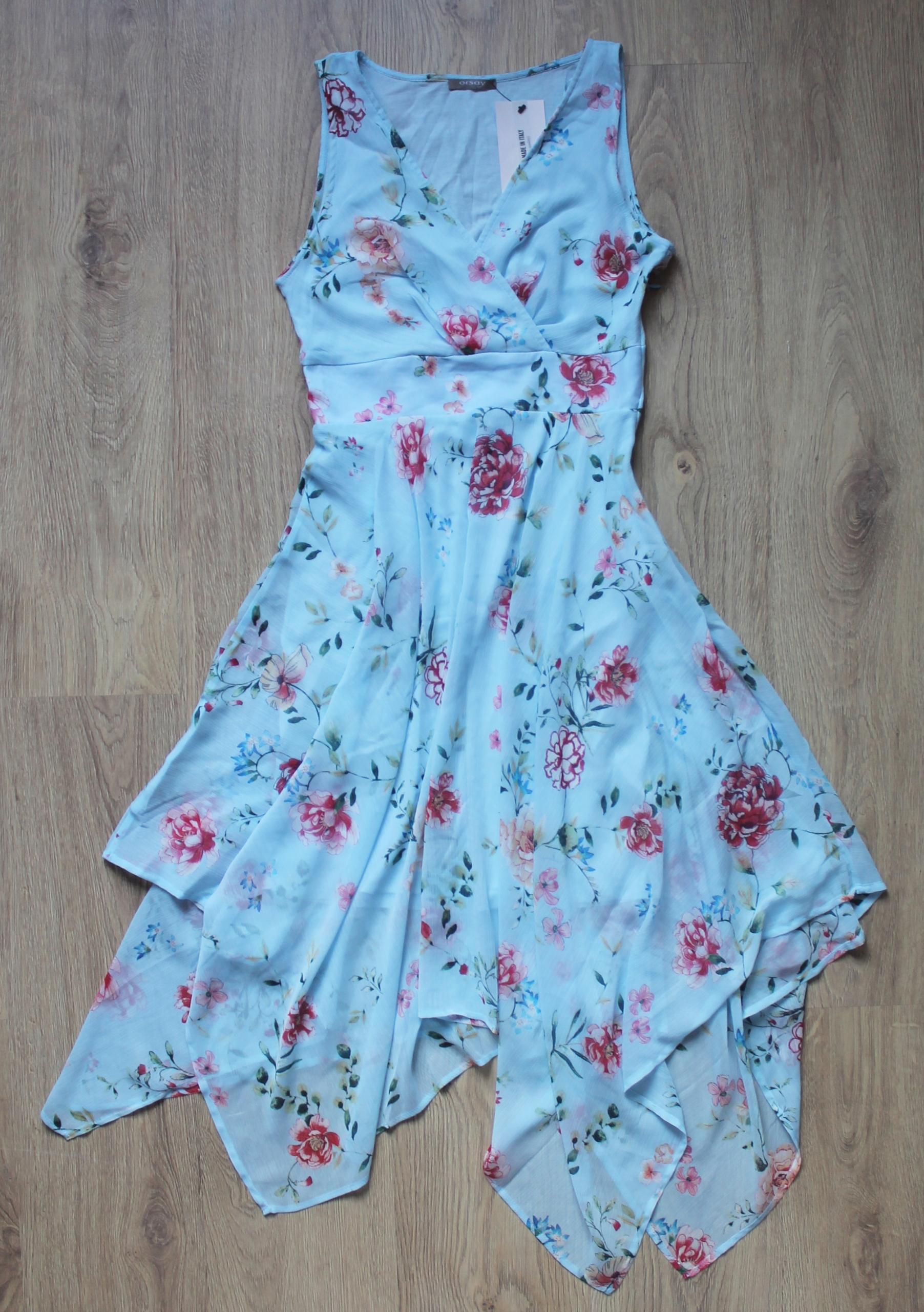 644517f0b106e7 ORSAY Sukienka NIEBIESKA kwiaty XS REZERWACJA - 7589845470 ...