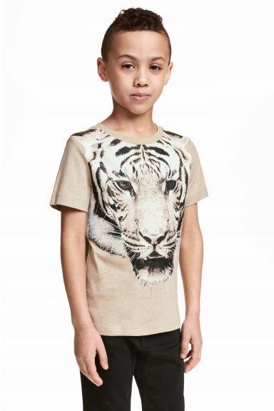 H&M bawełniany t-shirt z lwem j.nowy 134 - 140