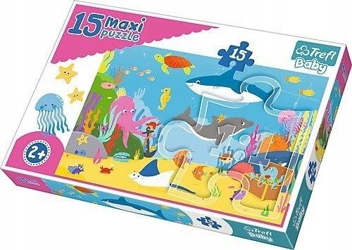 Puzzle Baby 15 elementów Maxi - Podwodny świat