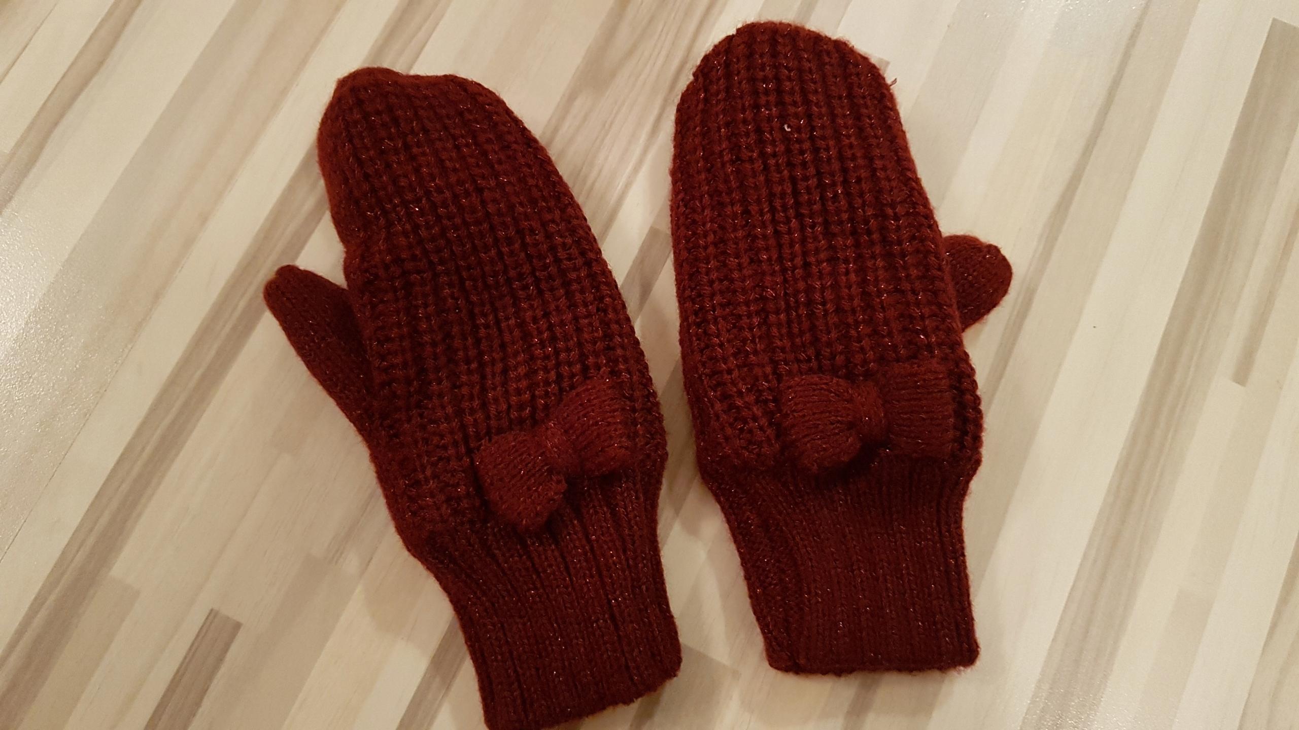 H&M rękawiczki dla dziewczynki 3-4 latka