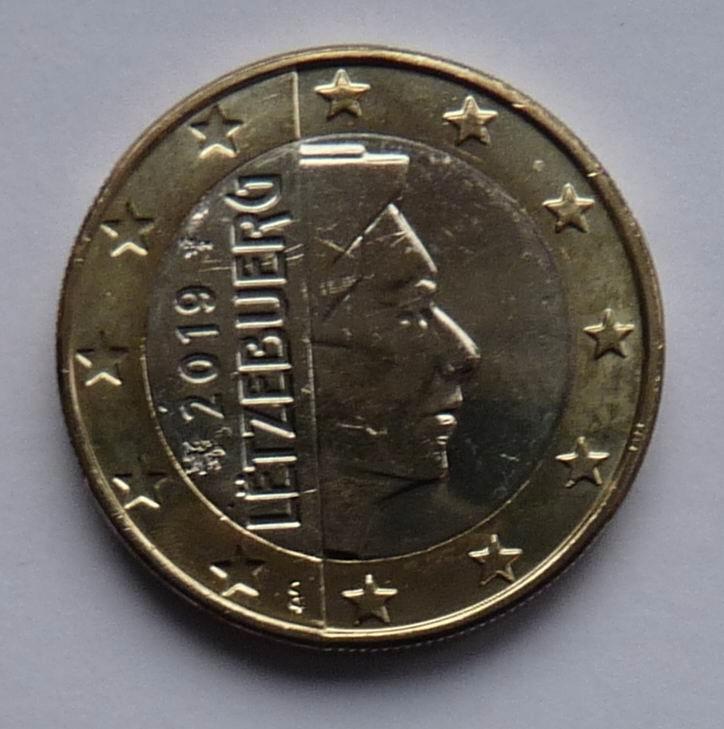 LUKSEMBURG 2019 - 1 EURO UNC !!!!!!!!!!!!!!!!!