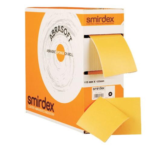 Papier ścierny gąbka SMIRDEX płatek P320 115x125mm
