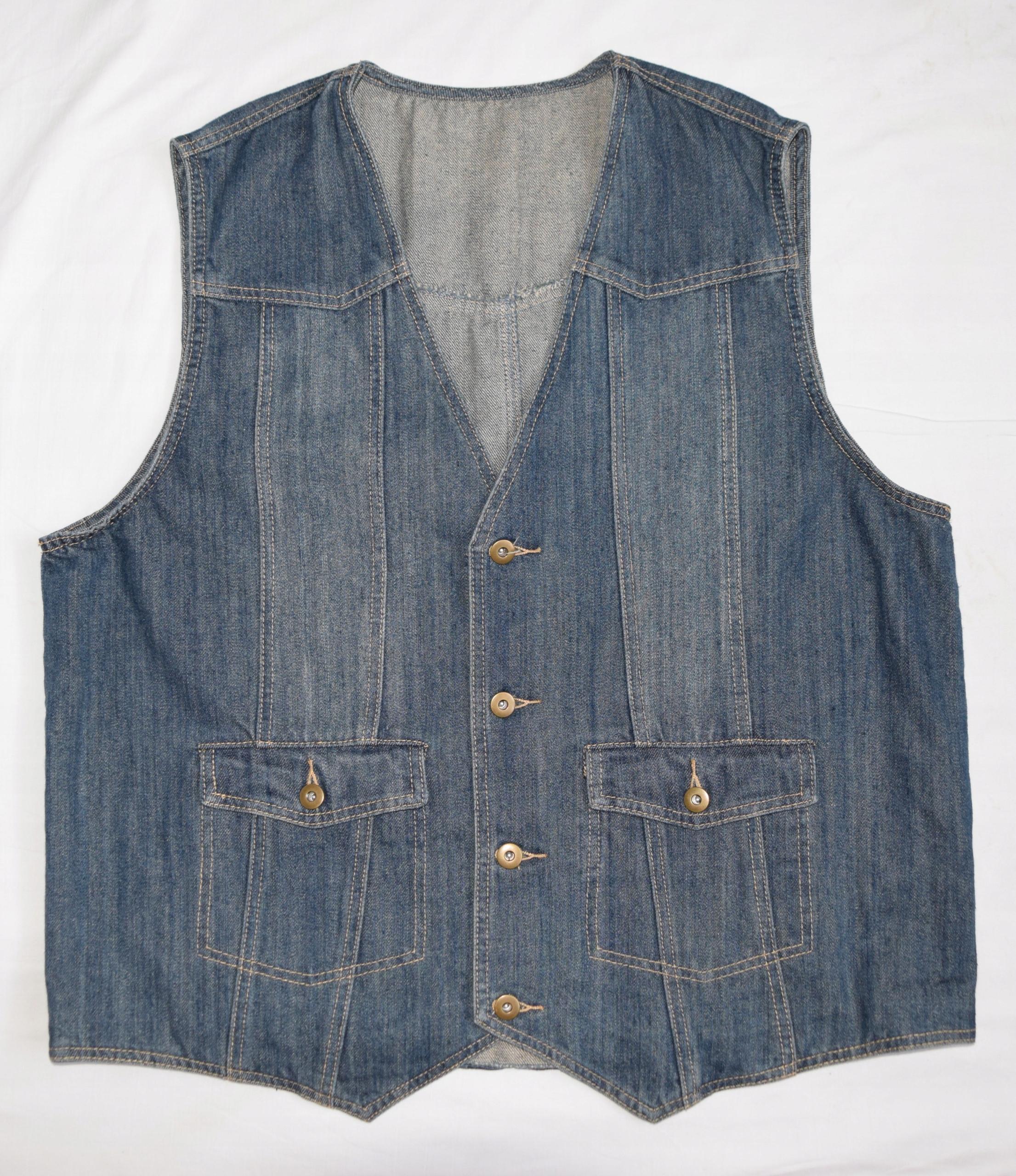Klingel Vintage kamizela jeans 58 w klacie 124 cm