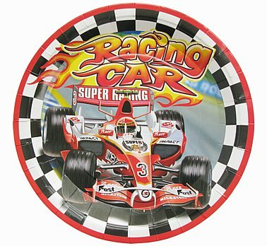 talerzyki pap 18cm Wyścigi F1 6szt