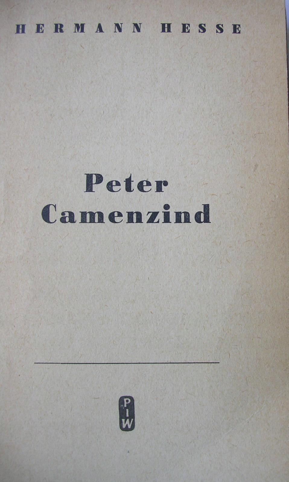 Peter Camenzind - Hermann Hesse 1957, wyd. I