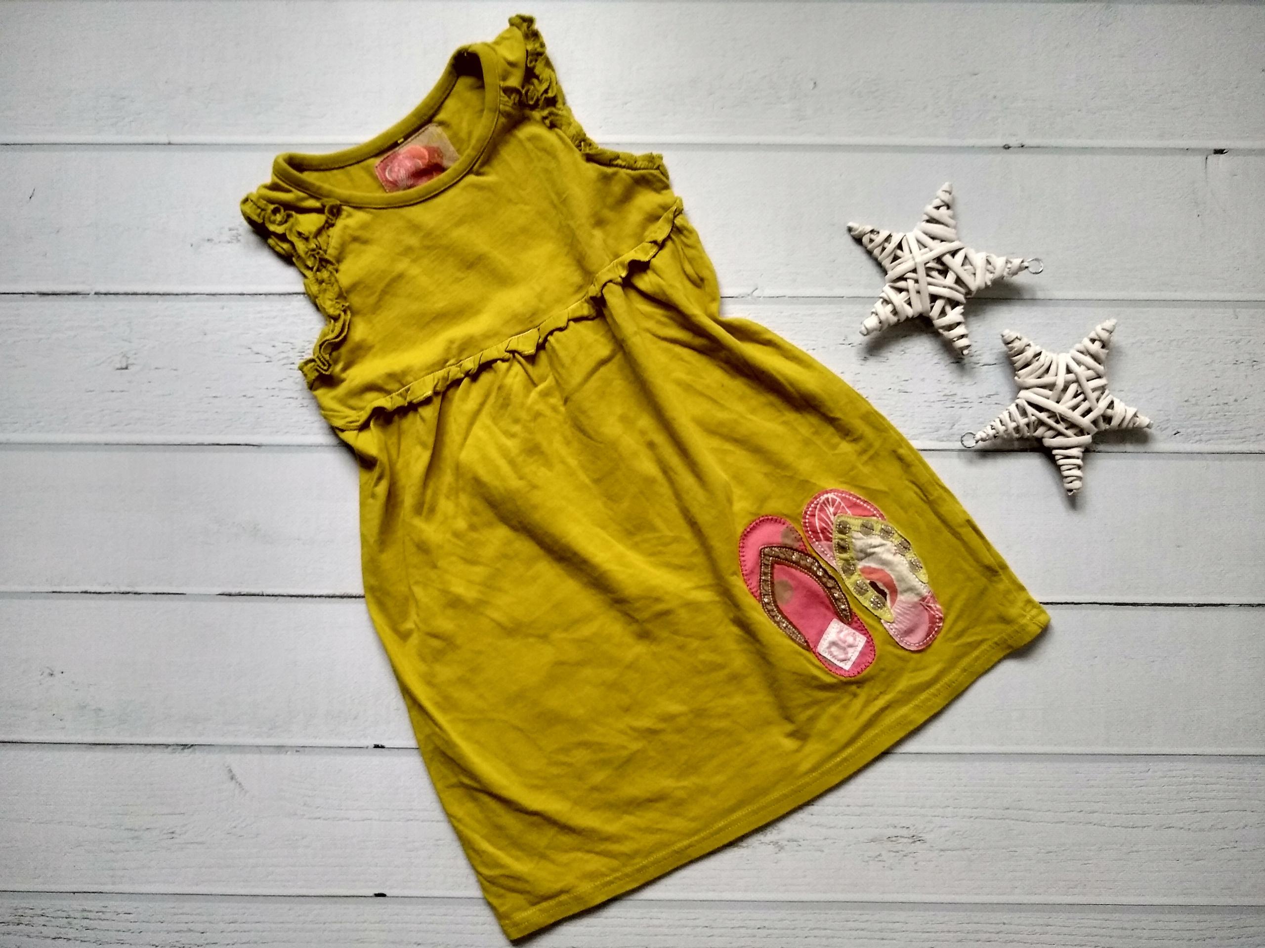 next sukienka bawełna musztardowa 110