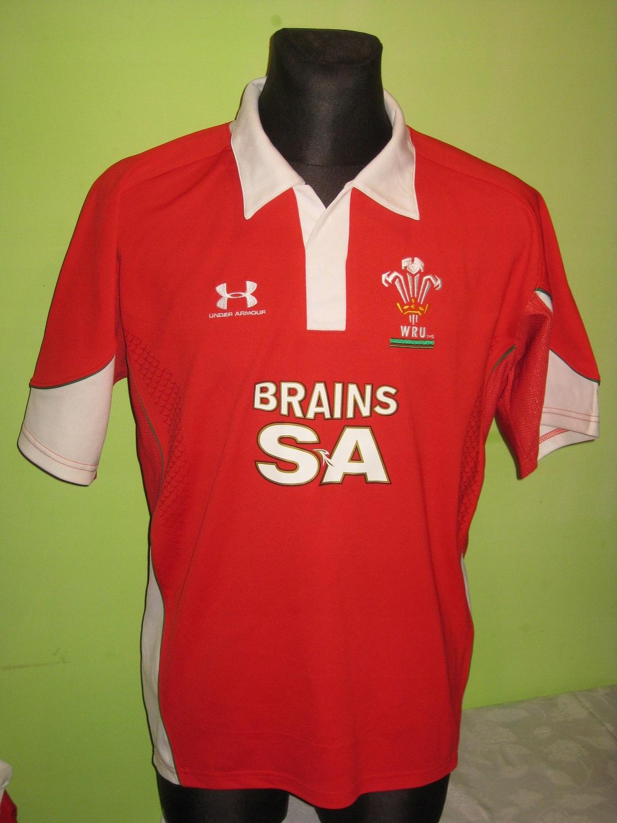 2008-09 WRU Cymru Wales Home Under Armour (L)