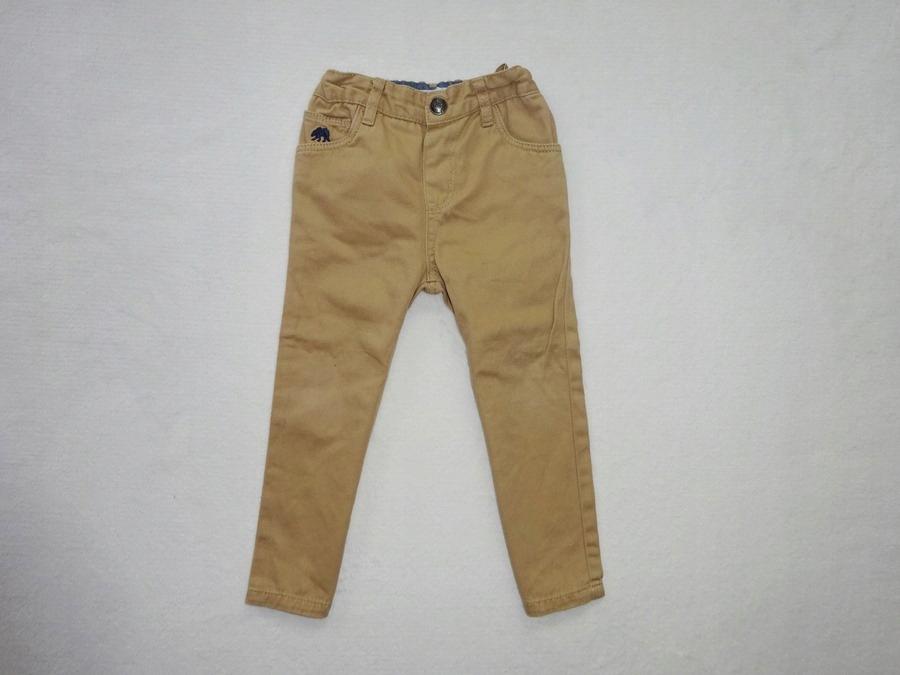 Rebel * beżowe chinosy eleganckie spodnie wizyt 98