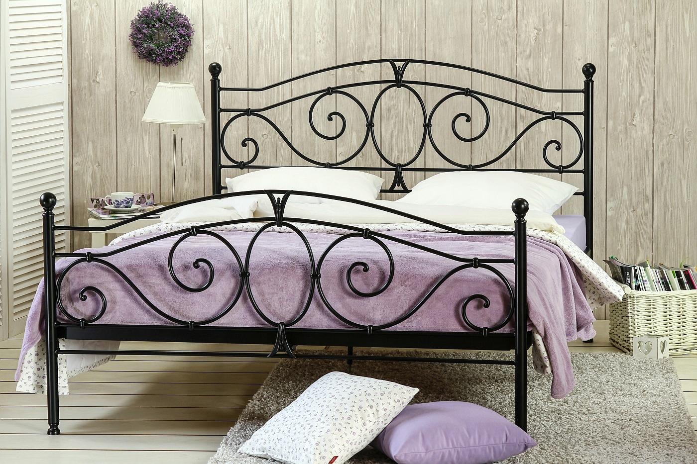 łóżko Kute Metalowe Sylvia 140x200 Dwa Szczyty 7826228758