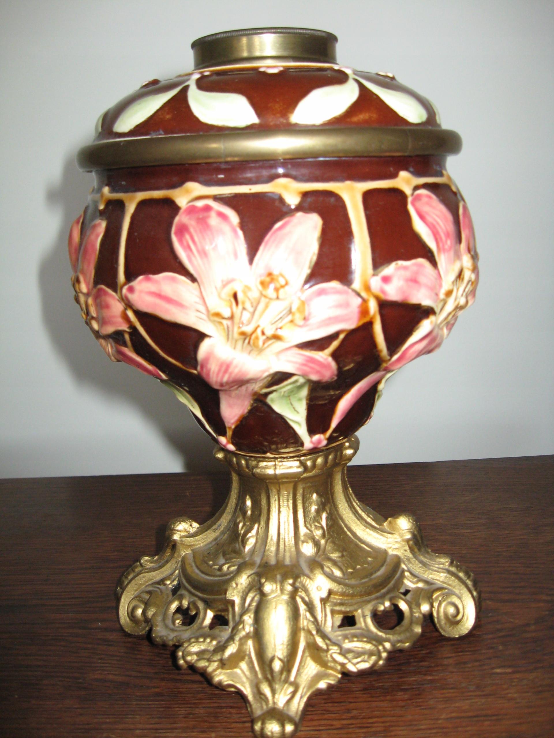 Majolika - podstawa lampy naftowej