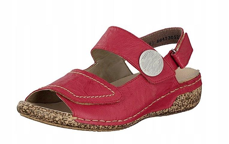 Rieker V7272-33 40 czerwone sandały buty tęgość H