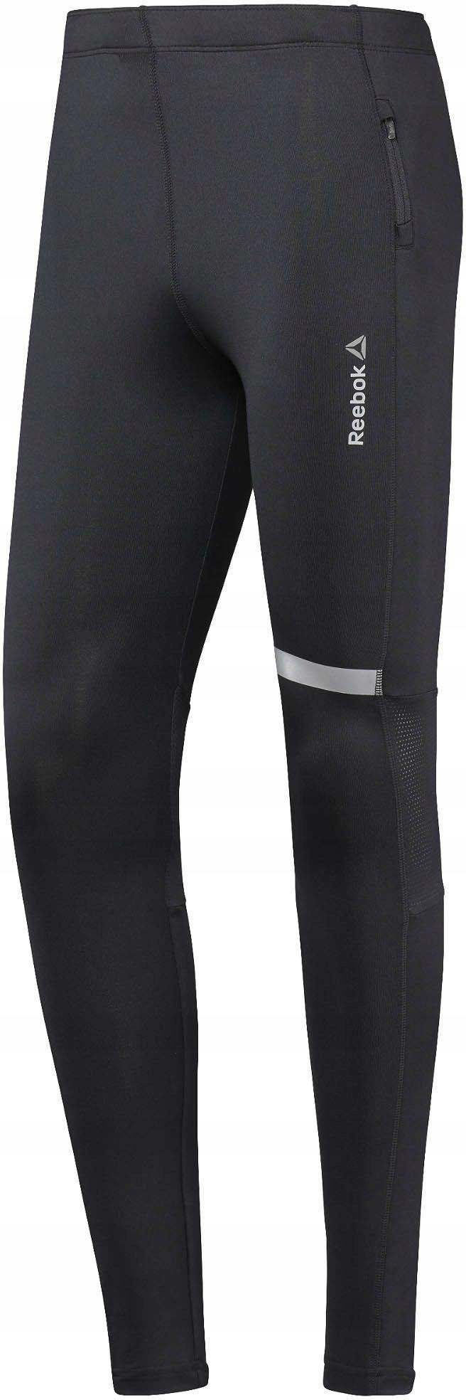 Reebok Spodnie męskie Run Tight czarne r. S (BR446
