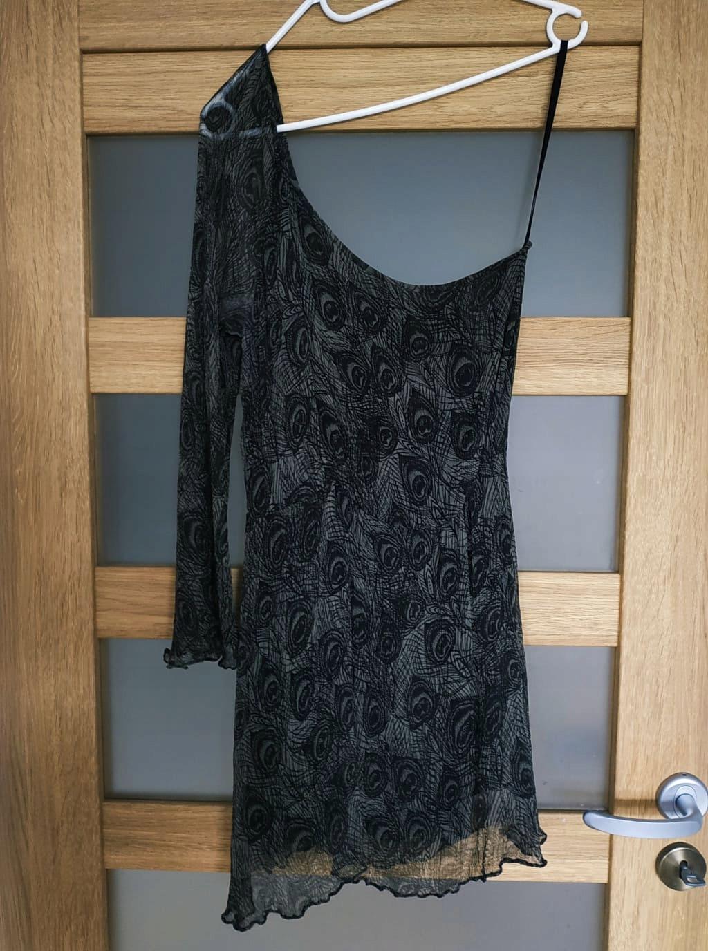 Sukienka TOPSHOP 38 pawie piórko