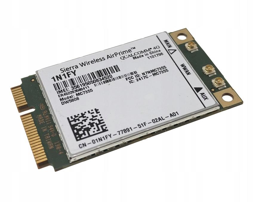 MODEM WWAN DW5808 4G LTE Dell E7240 E7440 3340 - 7629513185