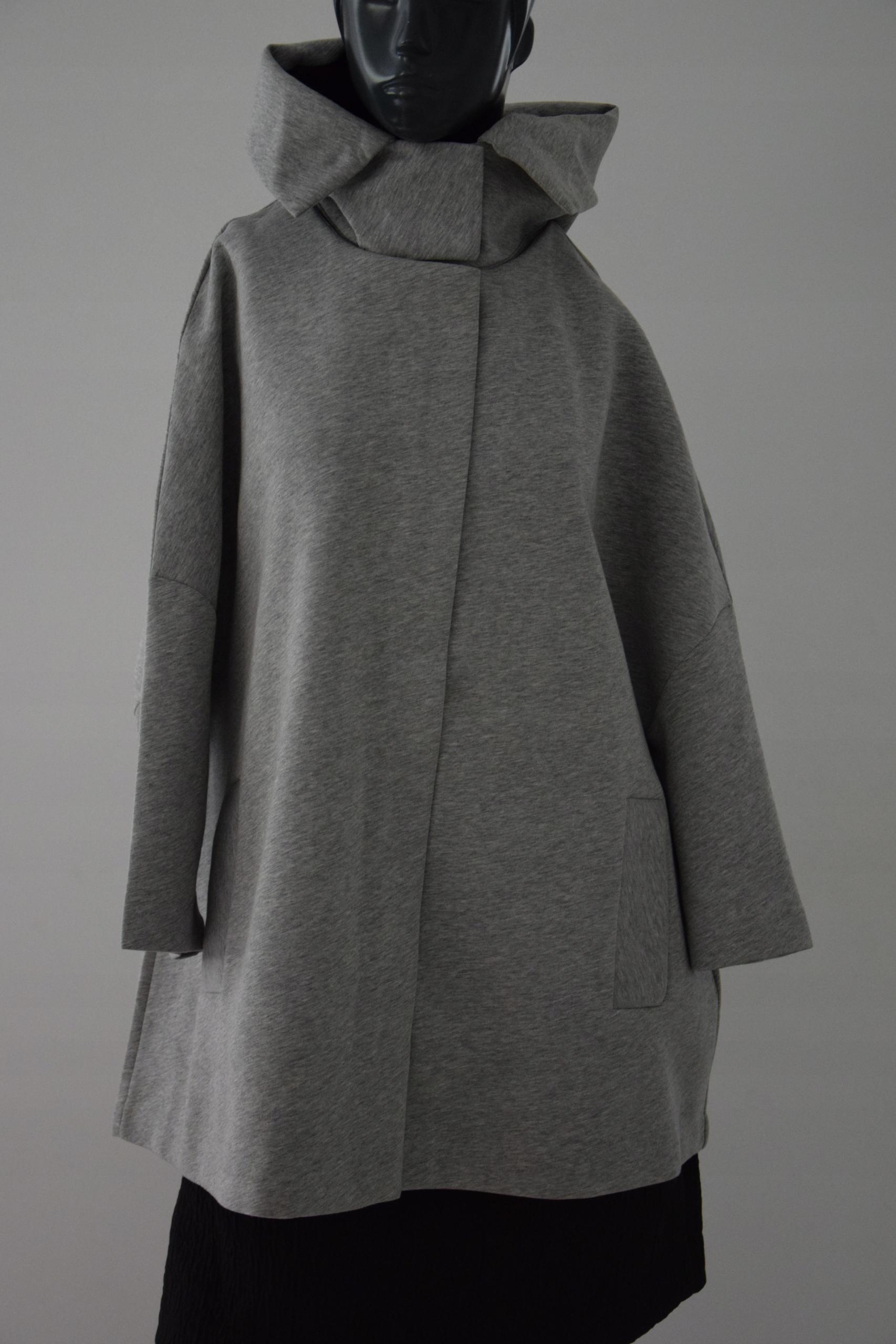 cos szary dresowy płaszcz oversize A-line r. M/38