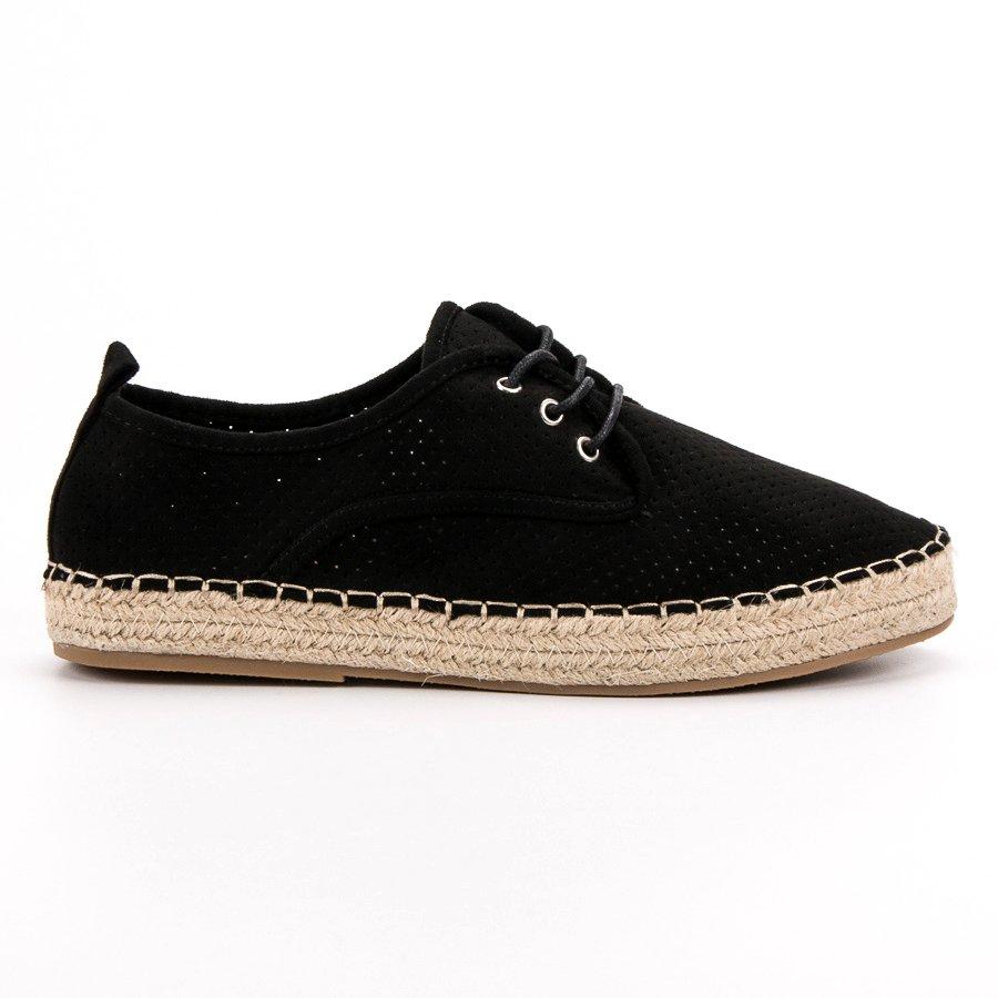 Ideal Shoes Espadryle Damskie Czarne r.38