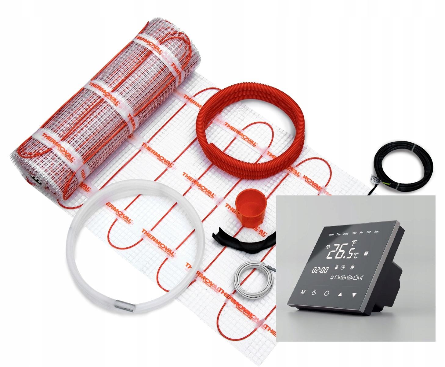 Zestaw mata 10,0m 1500W + regulator TVT 30 CS