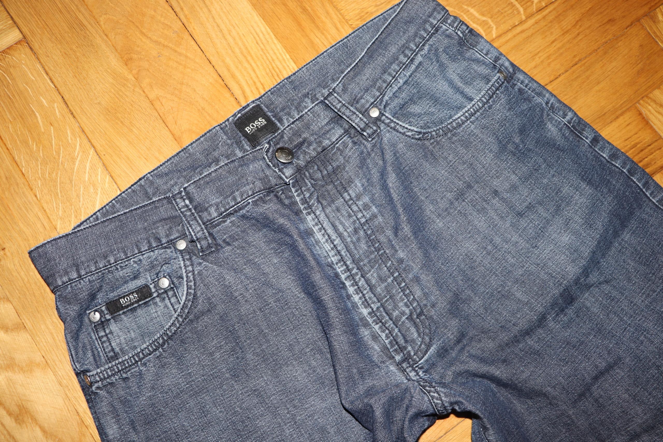 HUGO BOSS-MEN SHORT jeansowe spodenki,PAS-90-92.