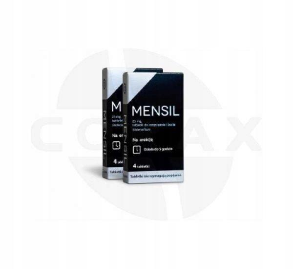 Mensil 25 mg 4 tabletki na POTENCJE
