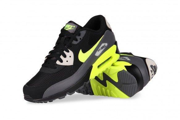 New Nike Air Max 90 AJ1285 015 Dark GreyVoltBlackLight