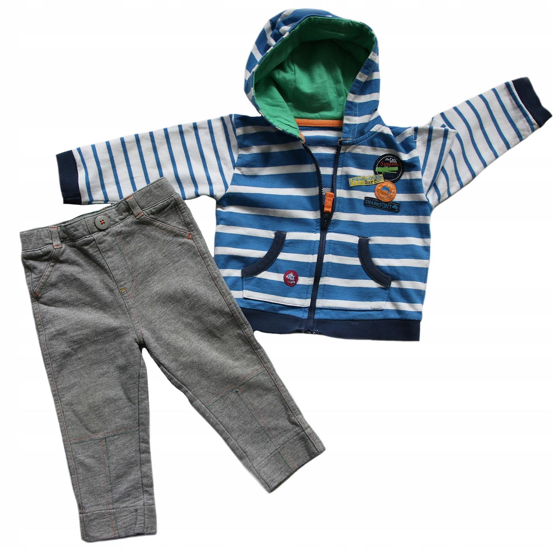 M&S Disney bluza z kapturem i spodnie 9-12 mc