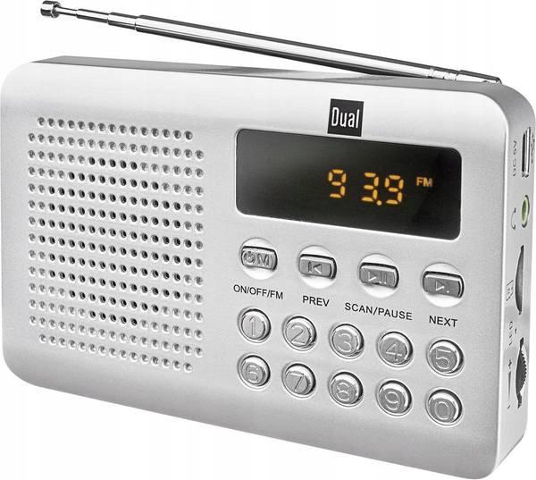 Radio Dual DTR 100 srebrny