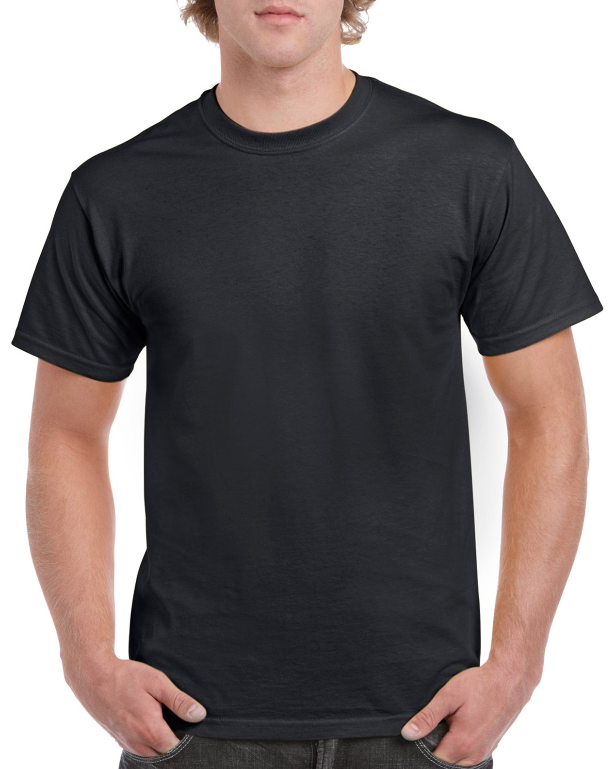 GILDAN koszulki HEAVY męskie T-shirt CZARNA XL