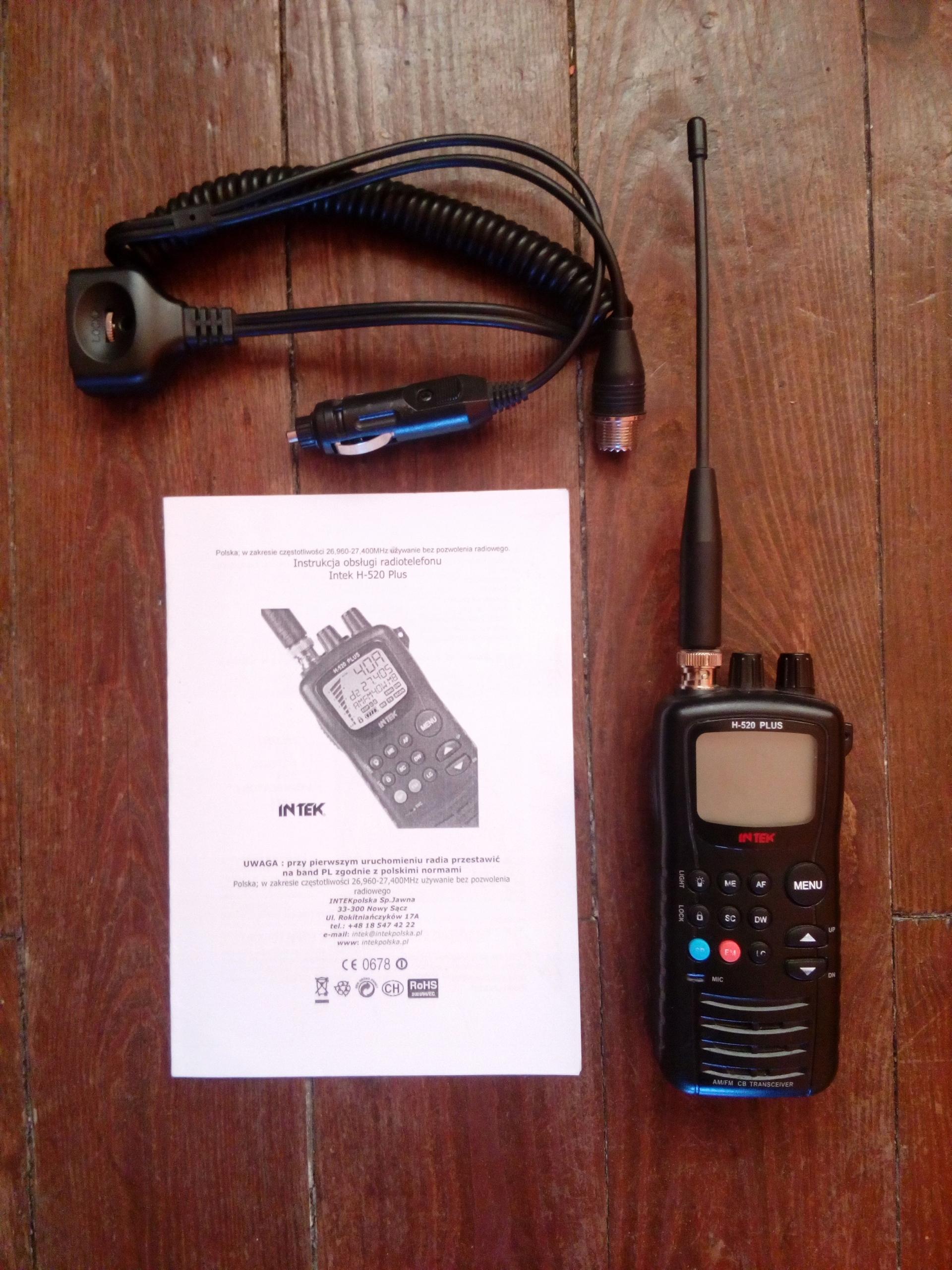 Krótkofalówka Intek H-520 H 520 Plus 2w1 CB radio