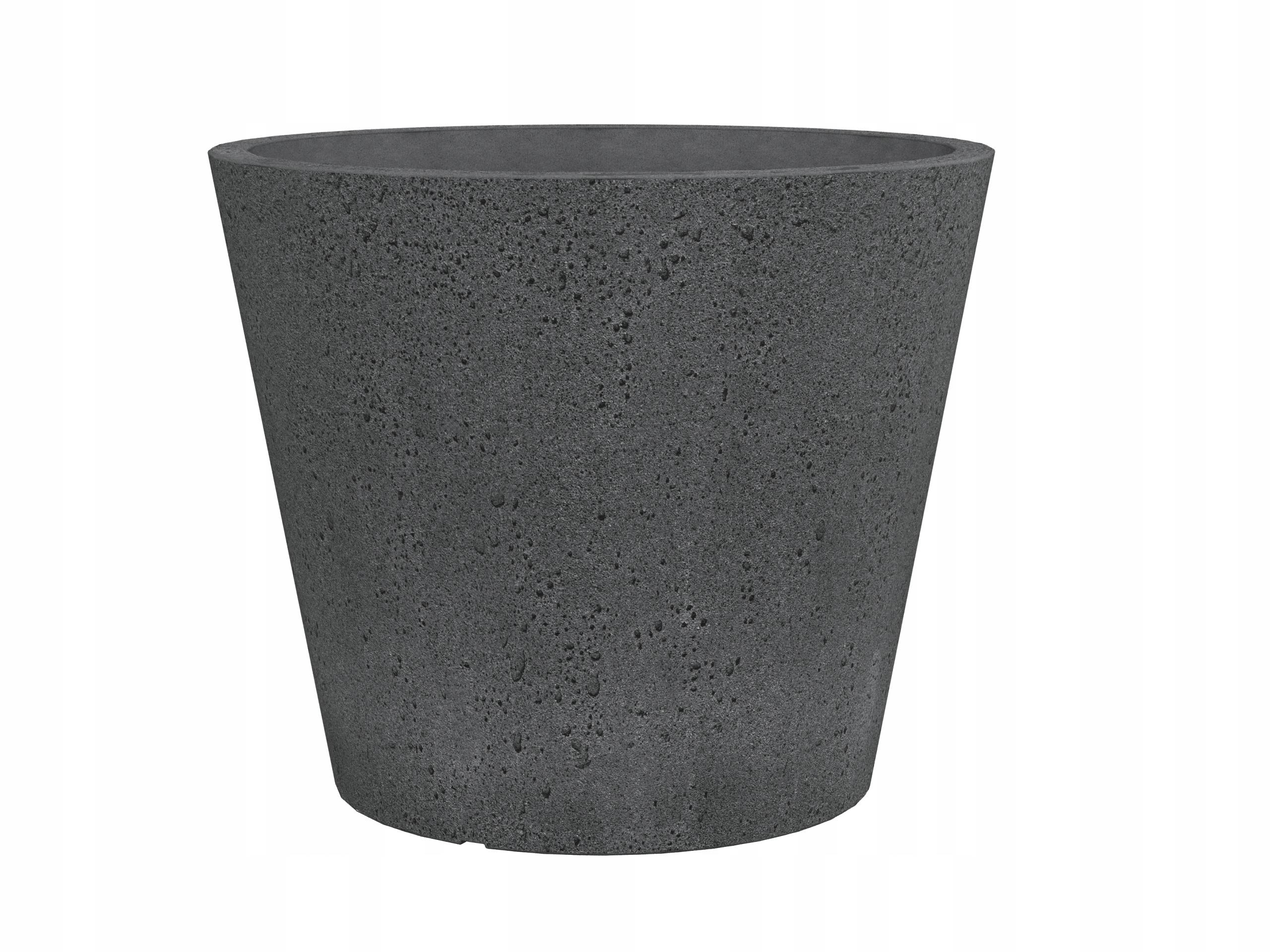 C Cone Doniczki Imitacja Betonu Antracytowe 49 7915797237