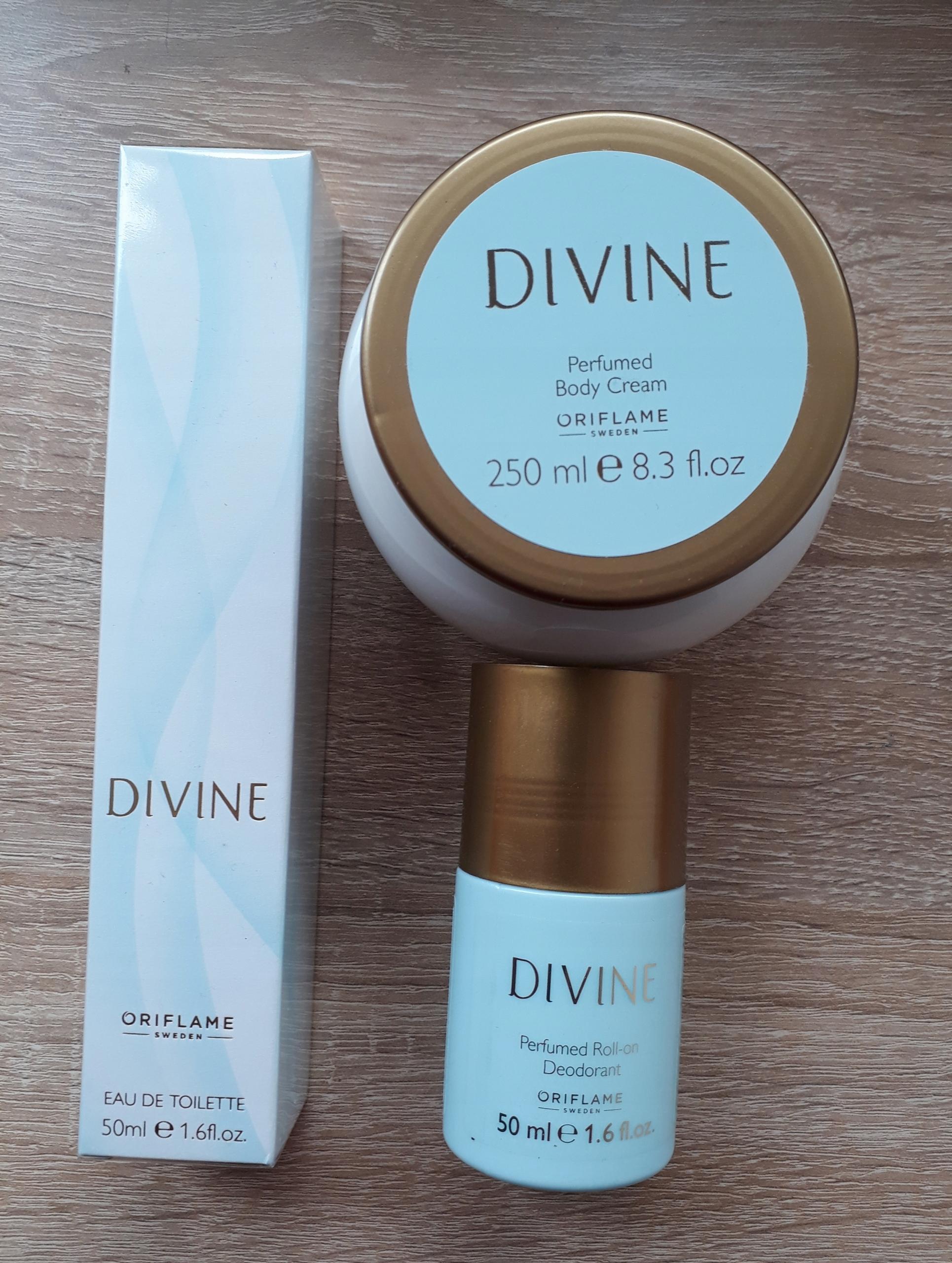 Zestaw Divine (perfumy + krem + dezodorant kulka)
