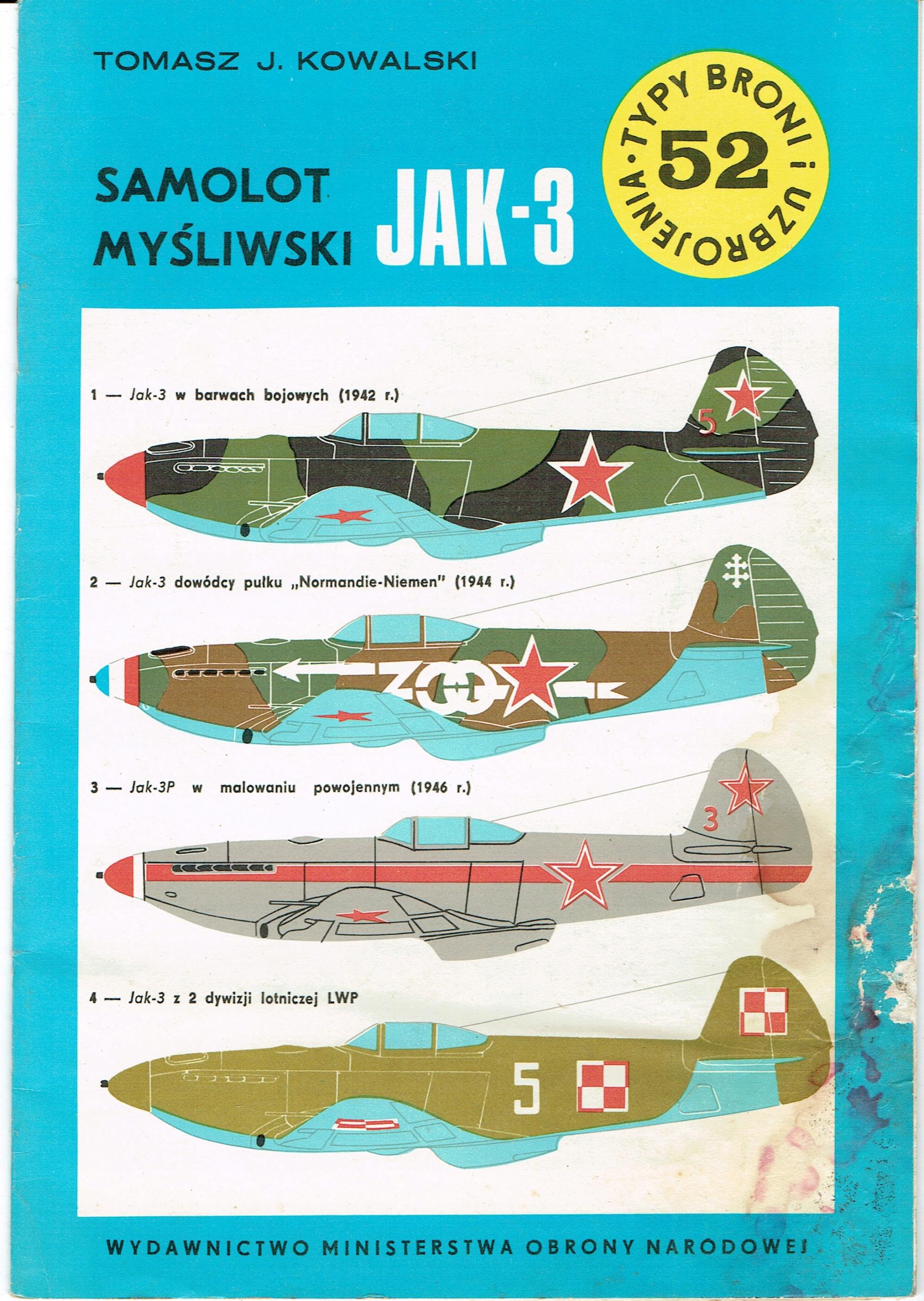 Samolot myśliwski Jak-3 Kowalski TBiU 52
