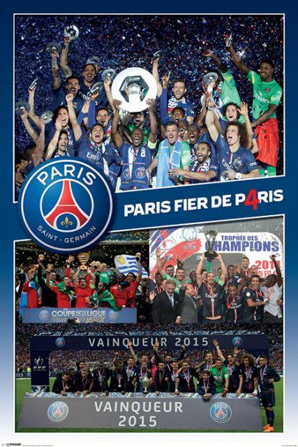 PSG Paris Saint Germain Zwycięstwo - plakat