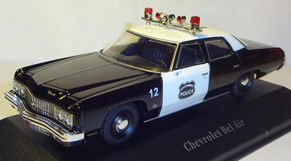 CHEVROLET BEL AIR POLICJA POLICE 1973