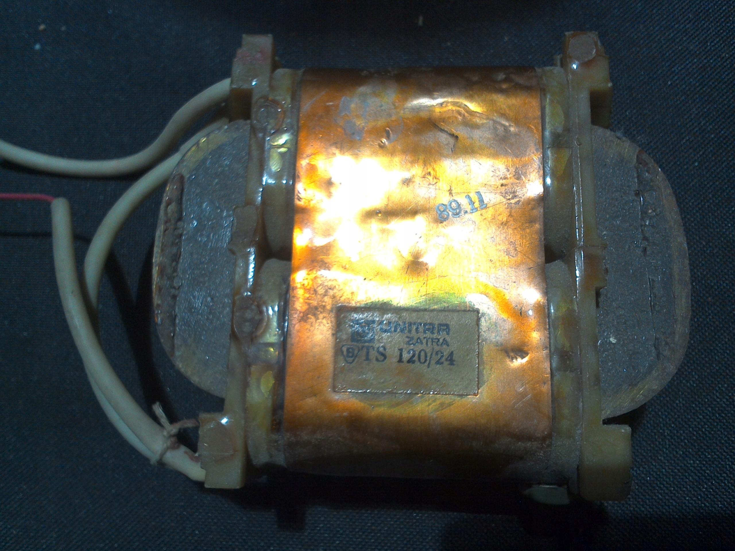 Transformator sieciowy TS120/24 2x24V 2x2.2A
