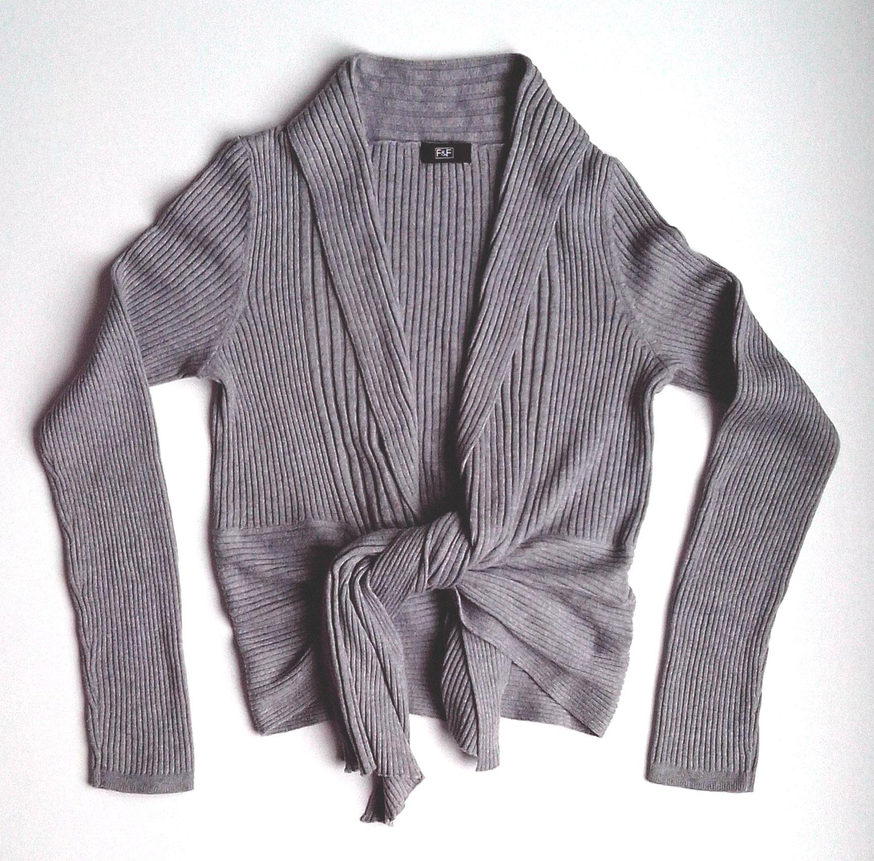 Ciekawy ciepły sweter kardigan F&F - 36 S