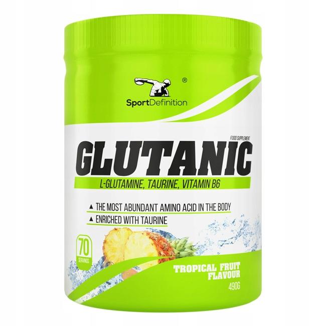 SPORT DEFINITION GLUTANIC 490G GLUTAMINA TAURYNA